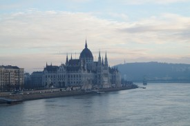 Budapest River Cruise Winter Parliament photo by Tom
