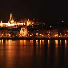 Matthias Church Night River Sights Romantic Budapest
