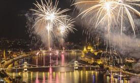 Budapest Fireworks on Aug 20 HK