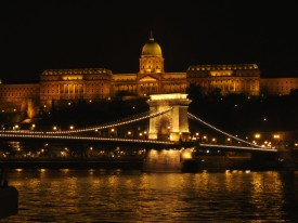Budapest Chain Bridge and Buda Castle Night BRC
