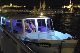 Budapest Private Boat Rental Clara Ship at Night